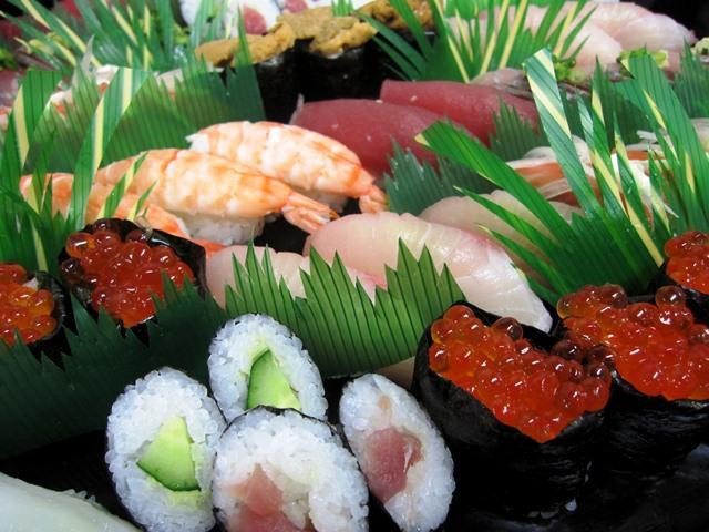 パーティーには欠かせない握り寿司